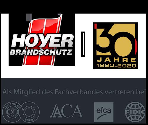 Hoyer Brandschutz - 30 Jahre Jubiläum Logo
