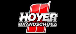 HOYER Brandschutz GmbH Logo, Ausführung als 4C Grafik · Entworfen von Robert Tober
