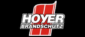 HOYER Brandschutz GmbH Logo, Volltonfarben. Entworfen von Robert Tober