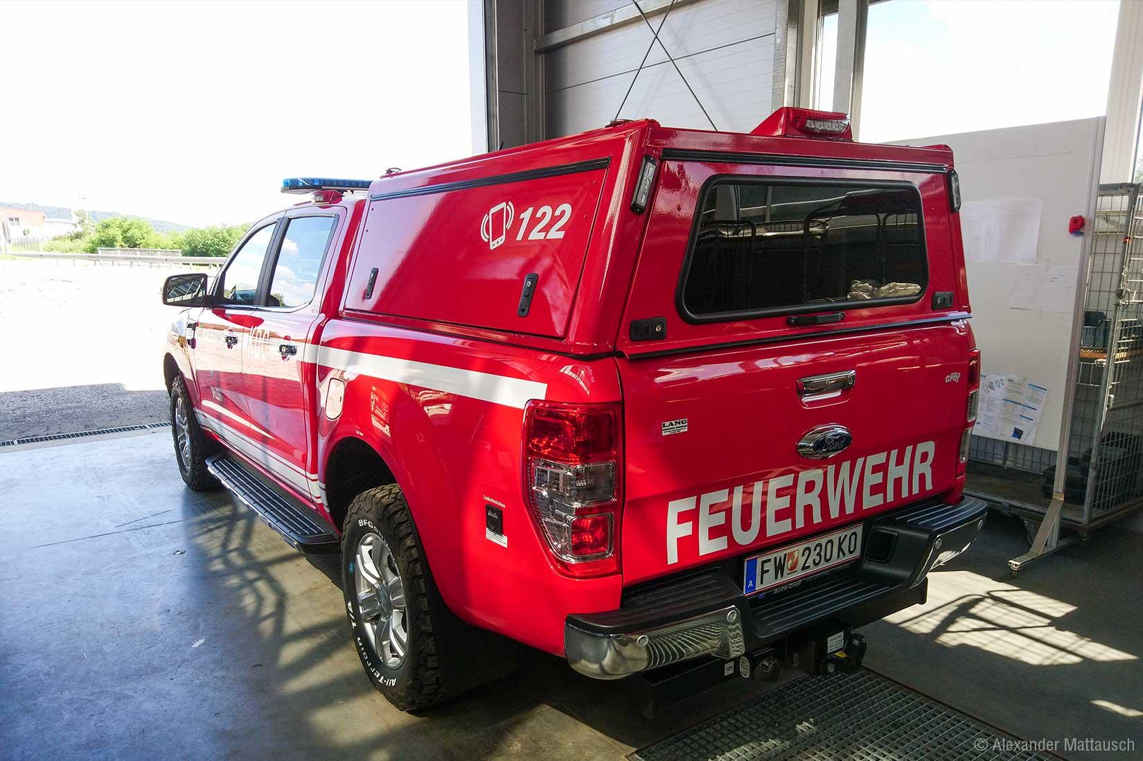 Ford Ranger als Kommandofahrzeug der freiwilligen Feuerwehr Spillern. © Alexander Mattausch