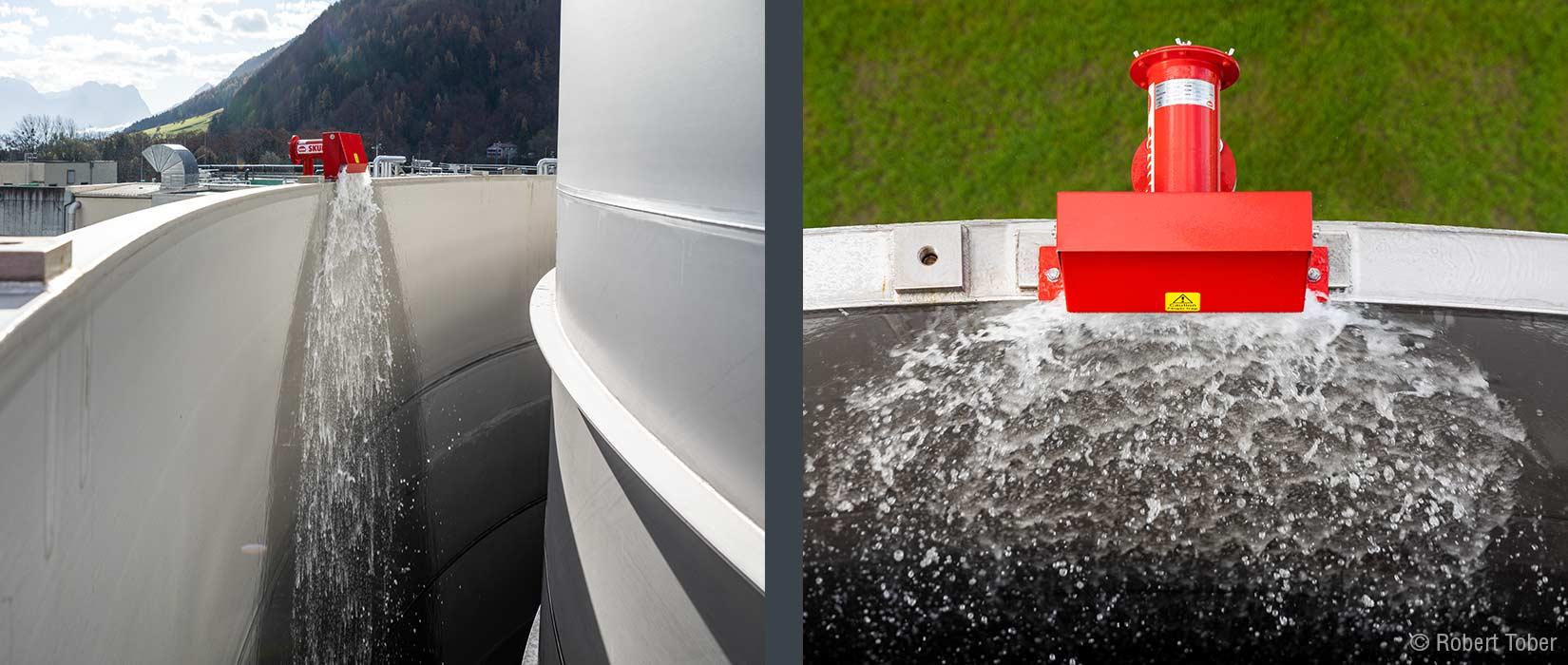 Bio-Ethanol-Anlage AustroCel Hallein. Stickstoffinertisierung und Schaumlöschanlage. Ethanol-Tank Schaumtopf mit Ringspalt. © Robert Tober Photography · www.toro.cc