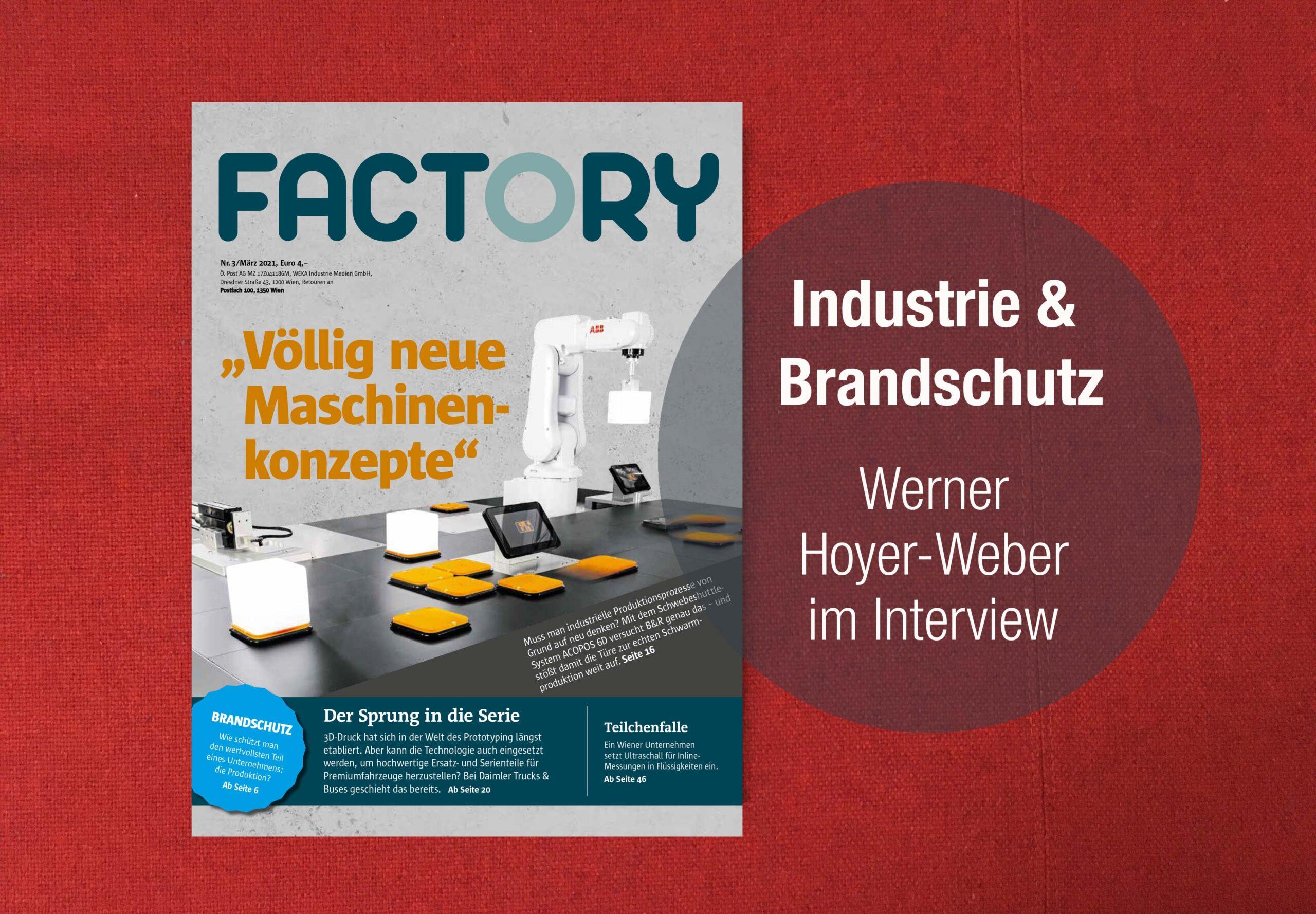 Das Cover des Magazins Factory