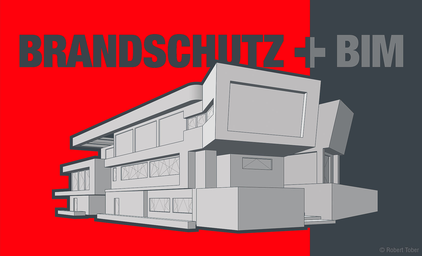 Architektur-Skizze · Brandschutz und BIM · Robert Tober Illustration